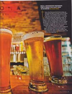 Annie Tobey's article on the RVA Beer Scene in Richmond Magazine